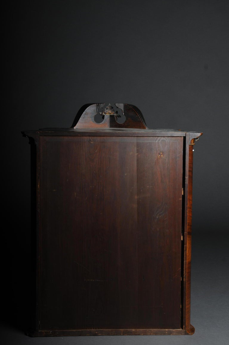 Gilt 19th Century Rococo Top Cabinet Walnut Root, Germany For Sale