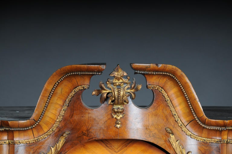 19th Century Rococo Top Cabinet Walnut Root, Germany For Sale 1