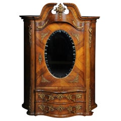 19th Century Rococo Top Cabinet Walnut Root, Germany