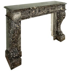 19th Century 'Roman Breche' Marble French Neo-Classical St. Mantle