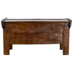 19th Century Romanian Wooden Trunk
