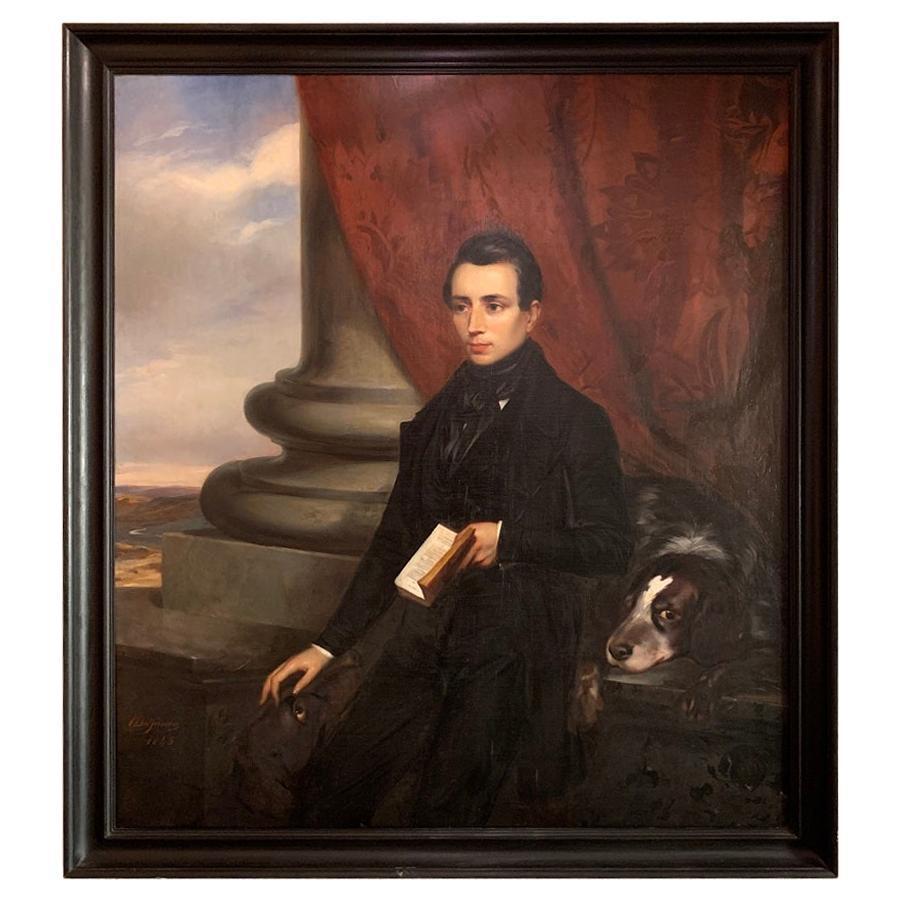 19th Century Romantic Grand Tour Portrait