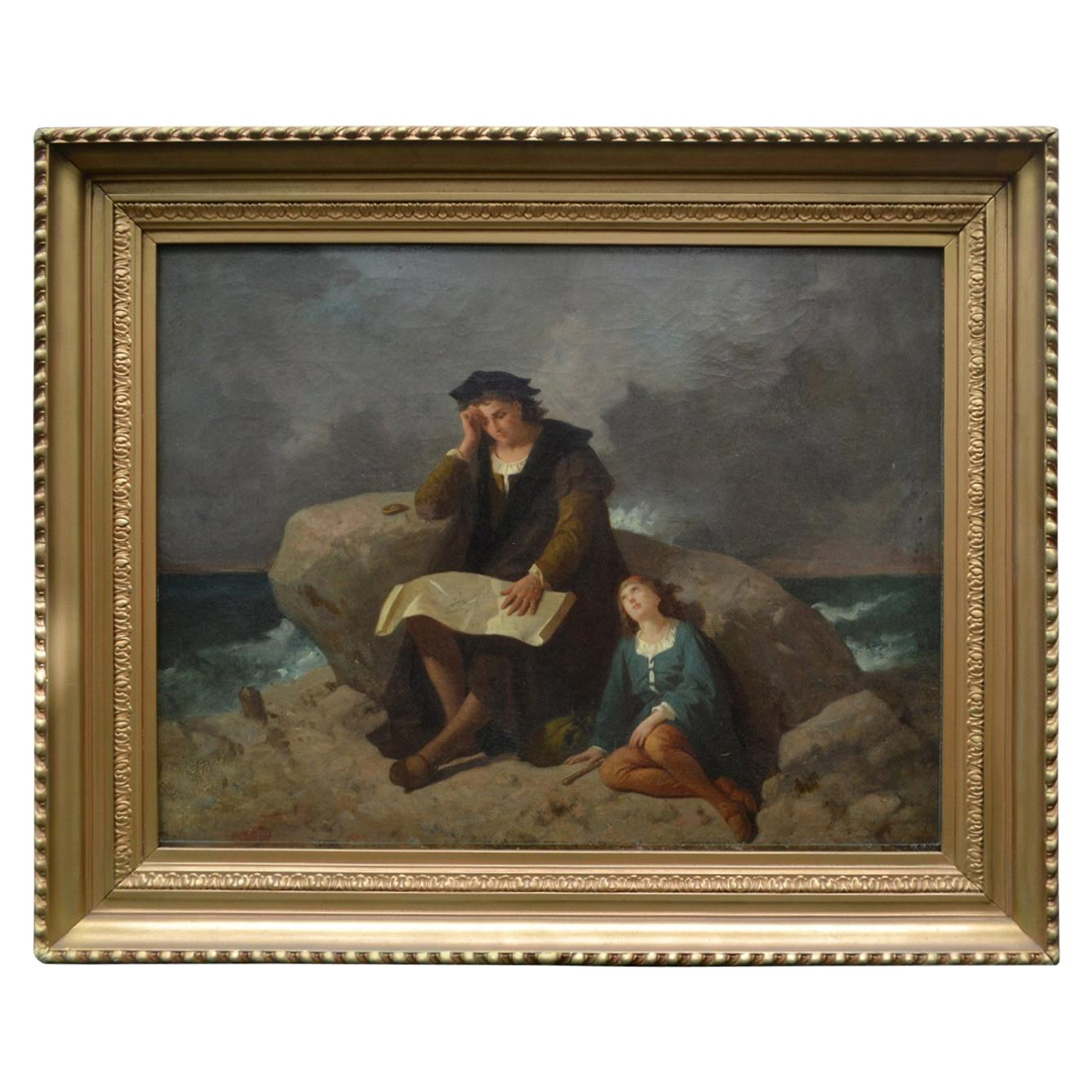 """19th Century Romantic Movement Painting """"The Explorer"""" Unsigned"""