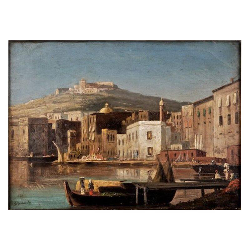 19th Century Romantic Style Oil Painting Summer / P. Svedomsky / Russian Painter