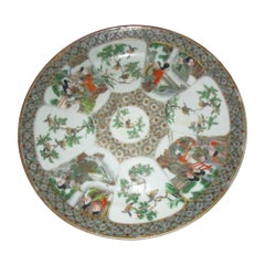 19th Century Rose Medallion Chinese Export Plate