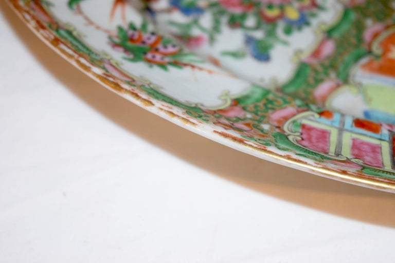 Chinese Export 19th Century Rose Medallion Platter For Sale