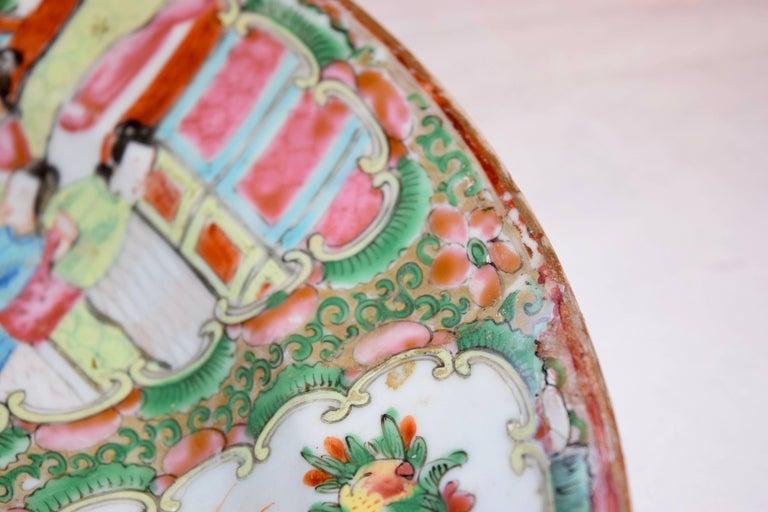 Chinese 19th Century Rose Medallion Platter For Sale