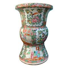 19th Century Rose Medallion Porcelain Vase