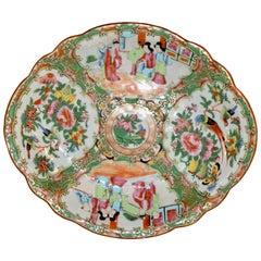 19th Century Rose Medallion Shaped Dish