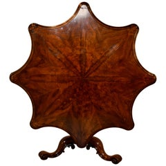 19th Century Rosewood and Mahogany Tilt-Top Table
