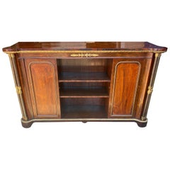 19th Century Rosewood and Steel English Regency Bookcase or Cabinet