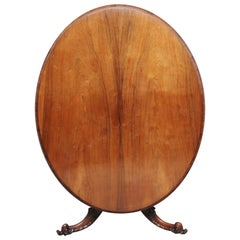 19th Century Rosewood Breakfast Table