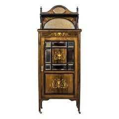 19th Century Rosewood Cabinet with Intarsias