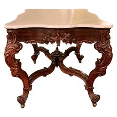19th Century Rosewood Center Table Attributed to Joseph Meeks
