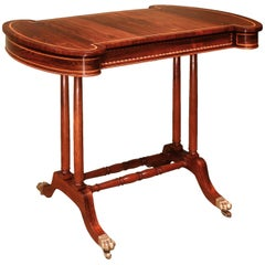 19th Century Rosewood Chess Backgammon Table