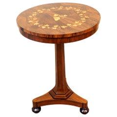 19th Century Rosewood Circular Lamp Table