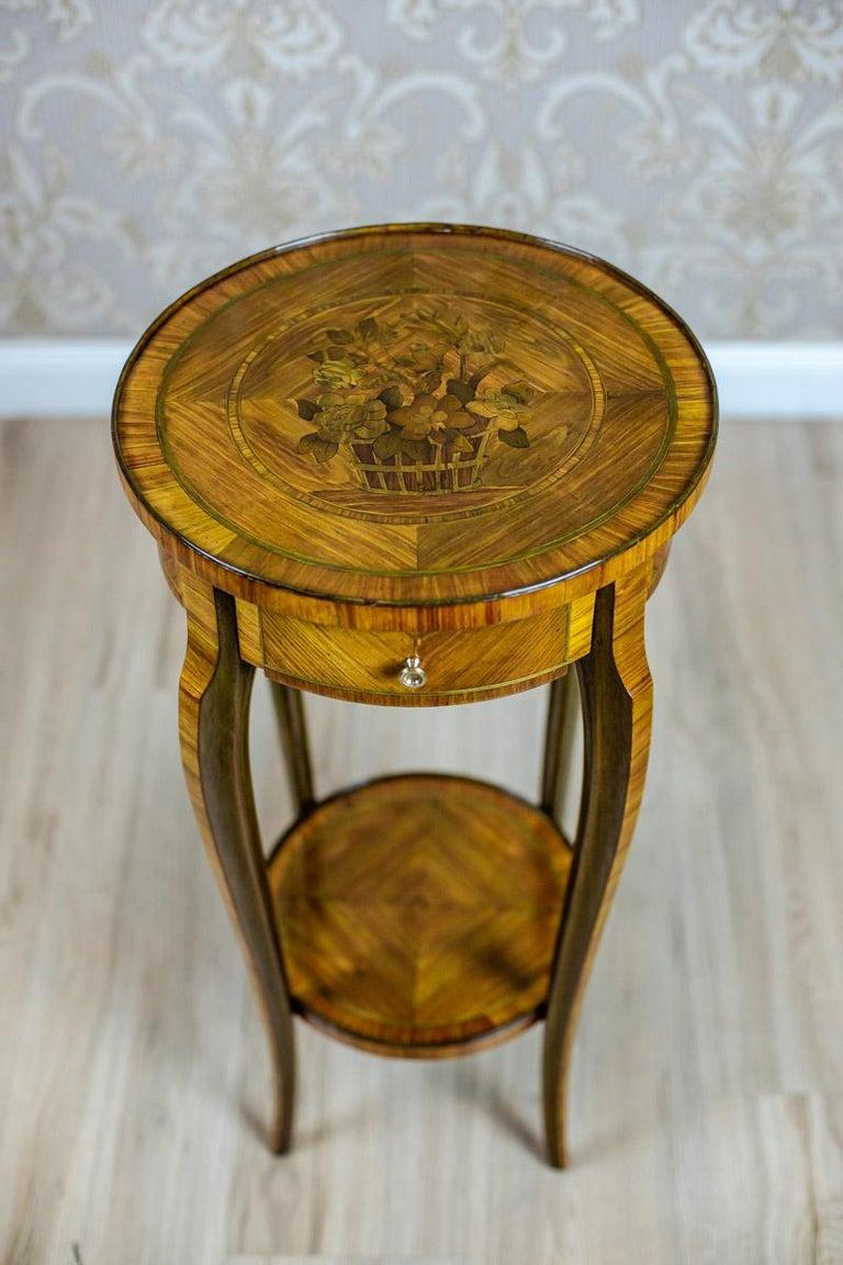 Veneer 19th Century Rosewood End Table For Sale