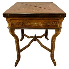 19th Century Rosewood English Card Table