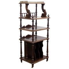 19th Century Rosewood Four-Tier Shelf