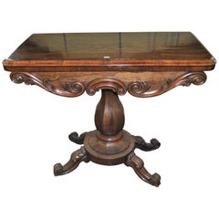 19th Century Rosewood Game, Card Table