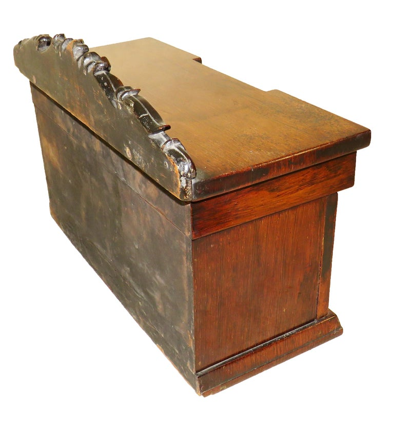 19th Century Rosewood Miniature Sideboard Tea Caddy In Good Condition For Sale In Bedfordshire, GB