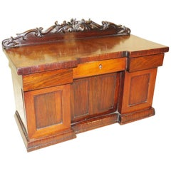 19th Century Rosewood Miniature Sideboard Tea Caddy