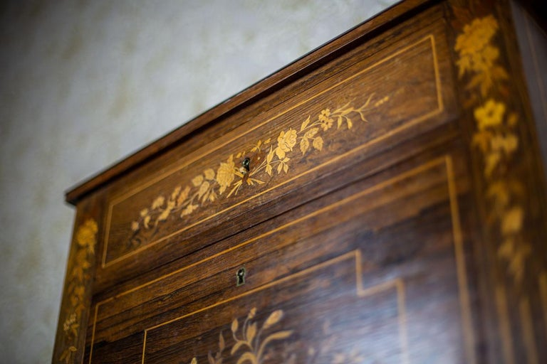 19th Century Rosewood Secretary Desk For Sale 8