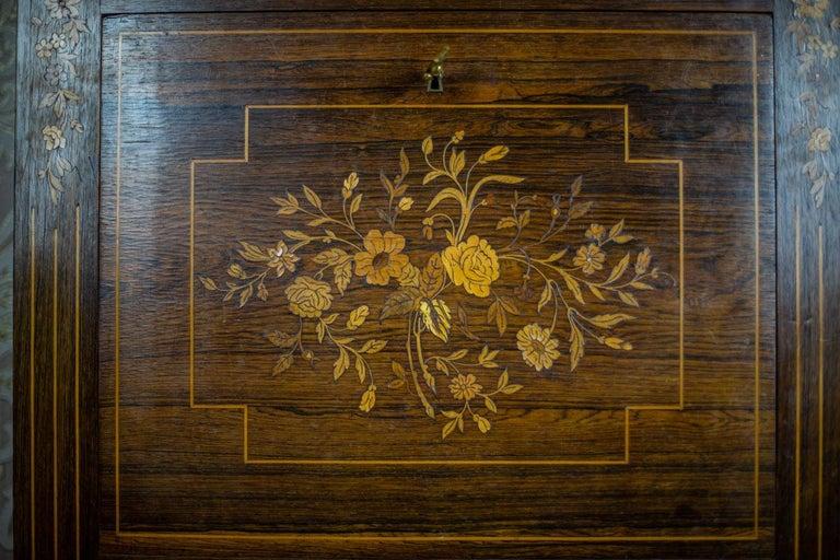 19th Century Rosewood Secretary Desk For Sale 10