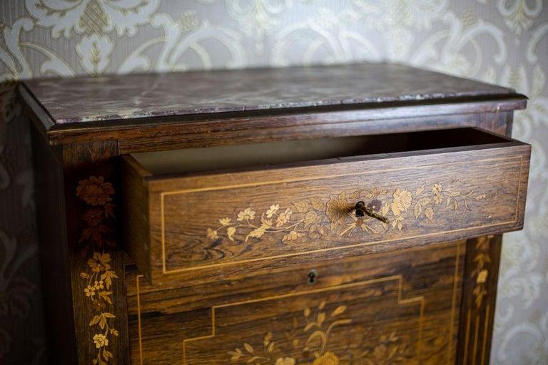 19th Century Rosewood Secretary Desk For Sale 11