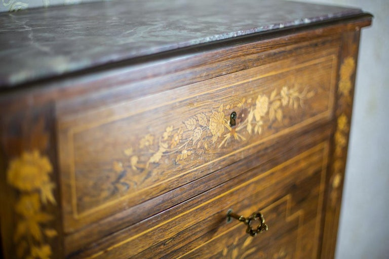 19th Century Rosewood Secretary Desk For Sale 12