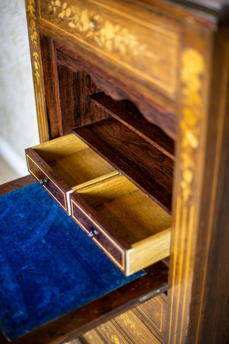 19th Century Rosewood Secretary Desk For Sale 13