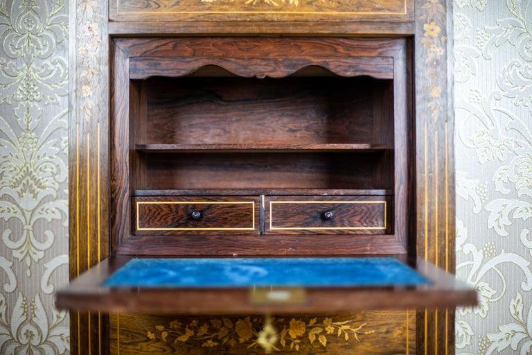 19th Century Rosewood Secretary Desk For Sale 2