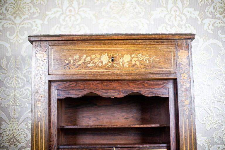 19th Century Rosewood Secretary Desk For Sale 4