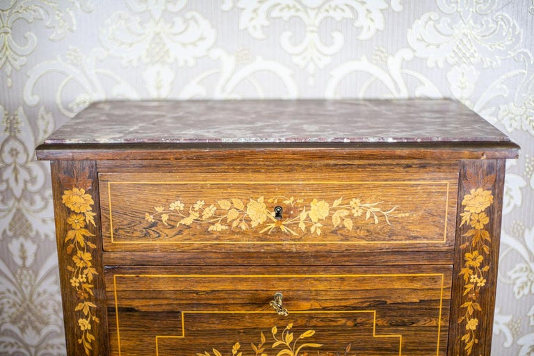 19th Century Rosewood Secretary Desk For Sale 5