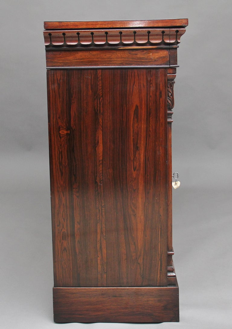 British 19th Century Rosewood Side Cabinet For Sale