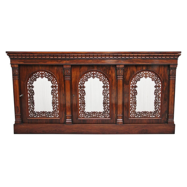 19th Century Rosewood Side Cabinet For Sale