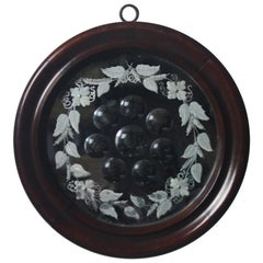 19th Century Rosewood Sorcerers Acid Etched Optical Mirror Curiosity