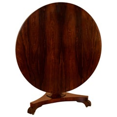 19th Century Rosewood Tilt-Top Table
