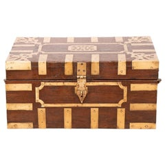 19th Century Rosewood Writing Box from Kerala South West India