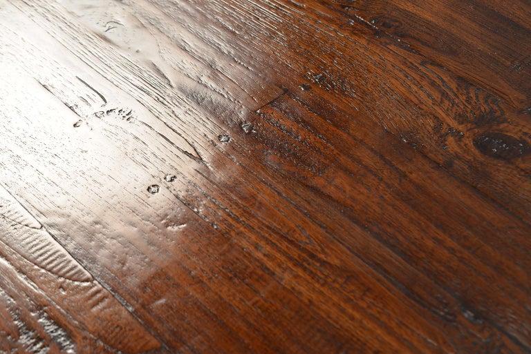 19th Century Round Chestnut Farm Table For Sale 5