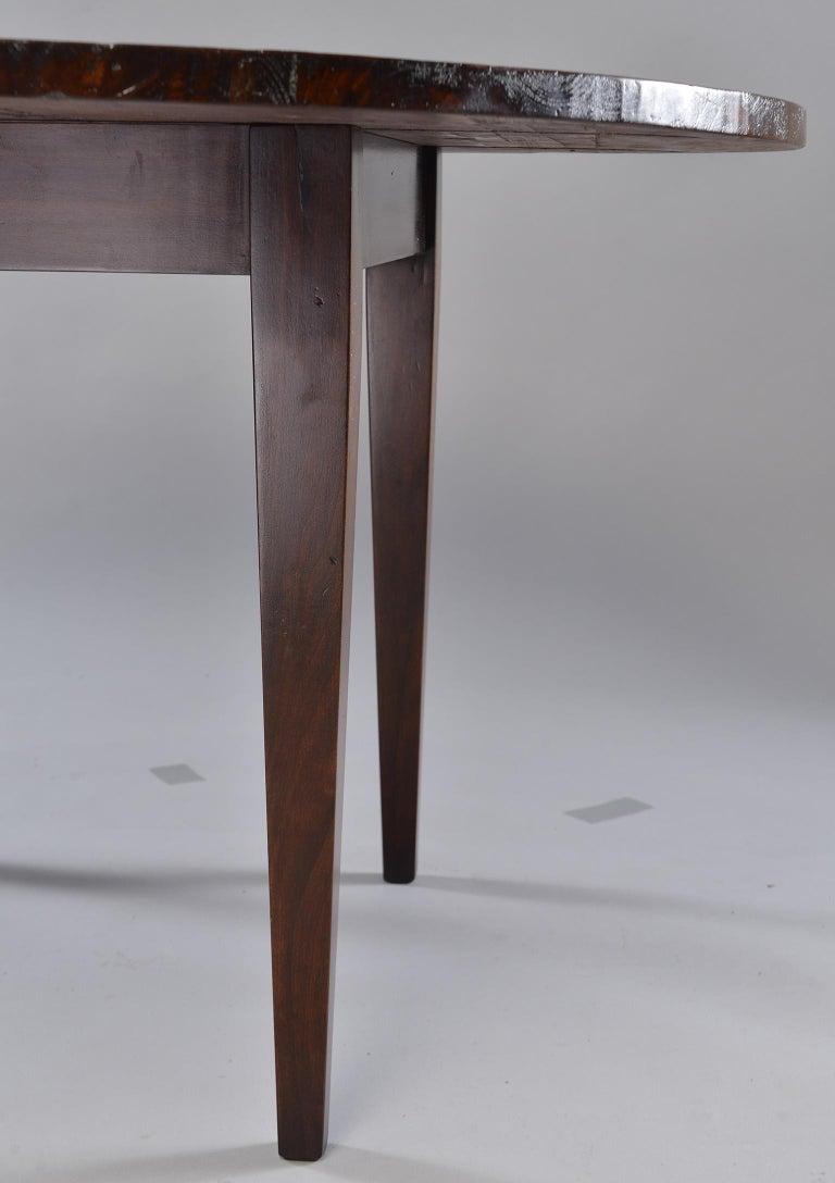 19th Century Round Chestnut Farm Table For Sale 1