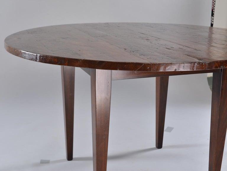 19th Century Round Chestnut Farm Table For Sale 2