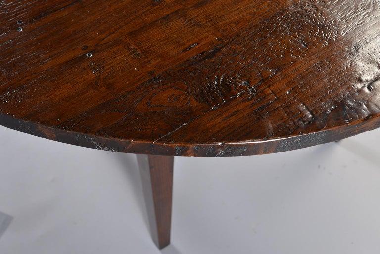 19th Century Round Chestnut Farm Table For Sale 3