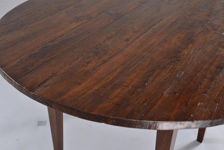 19th Century Round Chestnut Farm Table For Sale 4