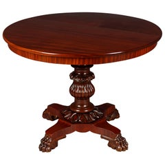 19th Century, Round Mahagony Table in the Late Biedermeier Style