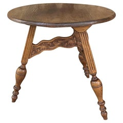 19th Century Round Tripod Folding End Table