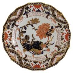 19th Century Royal Crown Derby Porcelain Desert Plate Ptn 1660, circa 1890