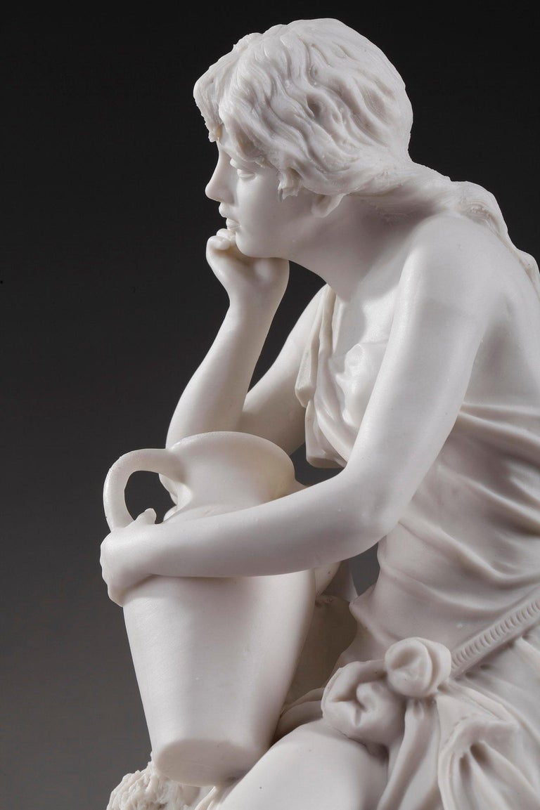 19th Century Royal Dux Bohemia Woman with Amphora For Sale 5