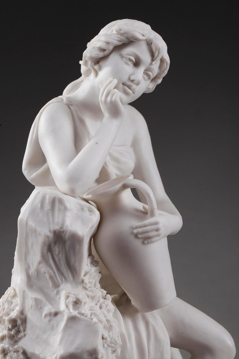 French 19th Century Royal Dux Bohemia Woman with Amphora For Sale