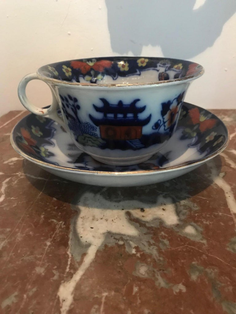 19th Century Royal Staffordshire Large Cup and Saucer
